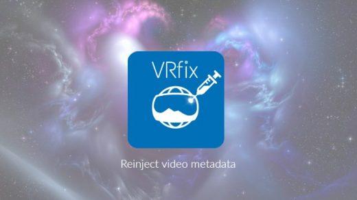 VRfix - reinject 360 video metadata